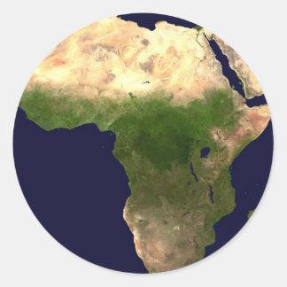 宇宙からのアフリカ ラウンドシール