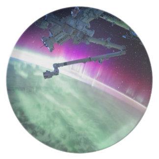 宇宙からのオーロラBorealis プレート