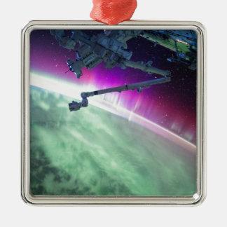 宇宙からのオーロラBorealis メタルオーナメント