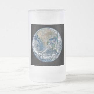 宇宙からの北アメリカ フロストグラスビールジョッキ