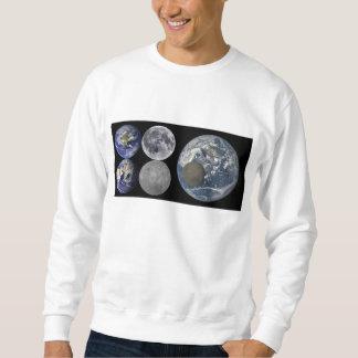 宇宙からの地球及び月 スウェットシャツ