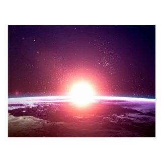 宇宙からの地球 葉書き