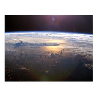宇宙からの惑星の地球 ポストカード