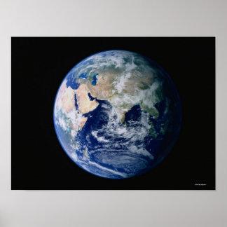 宇宙から見られるアジア ポスター
