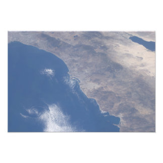 宇宙から見られる南カリフォルニアの一部分 フォトプリント