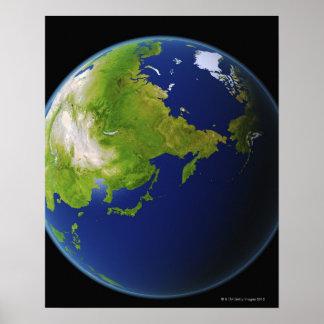 宇宙から見られる日本 ポスター