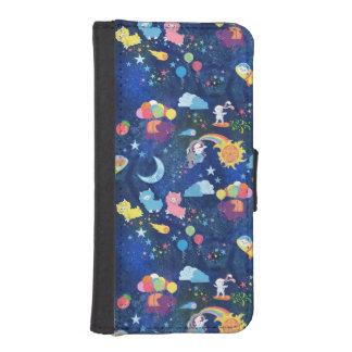 宇宙かわいい iPhoneSE/5/5sウォレットケース