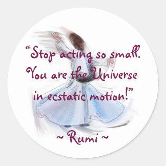 宇宙です! RUMIの詩的な知恵 ラウンドシール