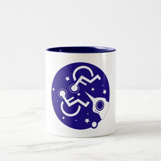 宇宙で不具にされる ツートーンマグカップ