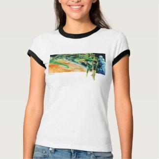 宇宙で飛ぶGrenのランタン Tシャツ