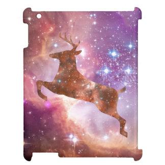 宇宙に跳躍しているiPad 2/3/4の場合の宇宙シカ iPad Case