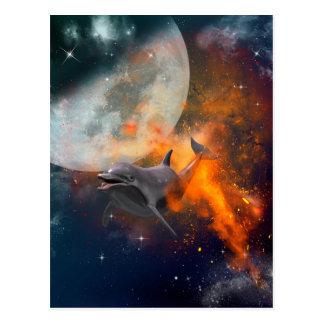 宇宙のおもしろいなイルカ ポストカード