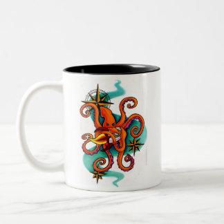 宇宙のイカ ツートーンマグカップ
