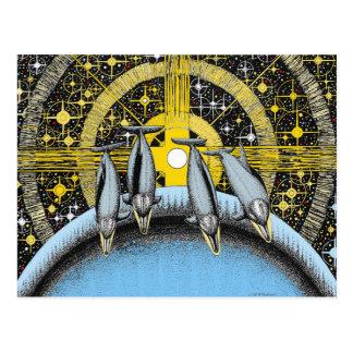 宇宙のイルカ ポストカード