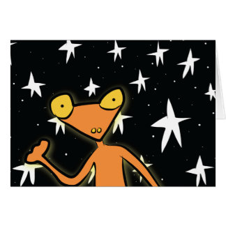 宇宙のカエルの挨拶状 カード