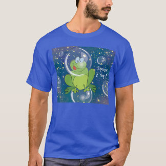 宇宙のカエル男のTシャツ Tシャツ