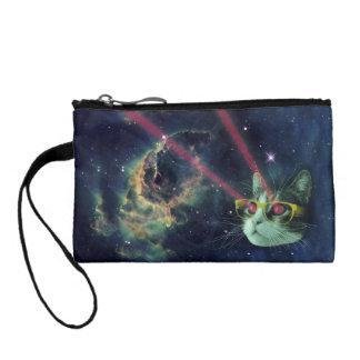 宇宙のガラスを持つレーザー猫 コインパース