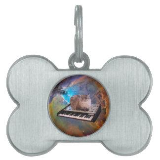 宇宙のキーボードの猫 ペットネームタグ