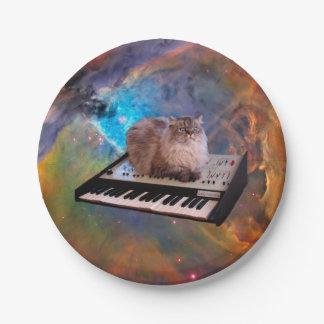 宇宙のキーボードの猫 ペーパープレート