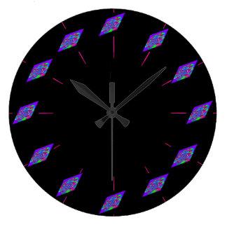 宇宙のサイファイのオタク系のな茎科学の数学のギーク ラージ壁時計