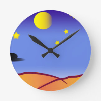 宇宙のスケッチ ラウンド壁時計