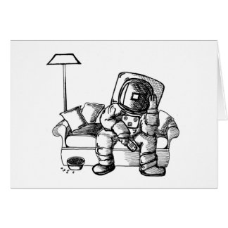 宇宙のソファー グリーティングカード