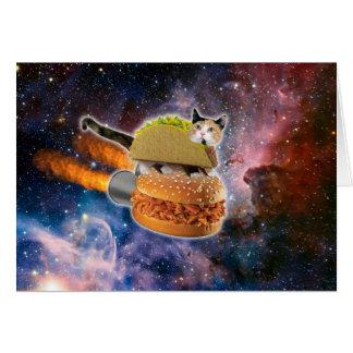 宇宙のタコス猫そしてロケットのハンバーガー カード