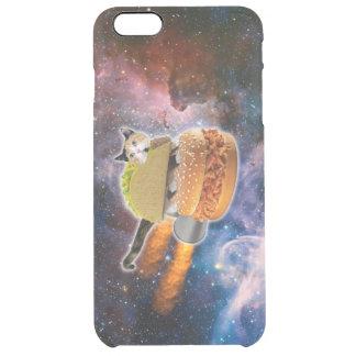 宇宙のタコス猫そしてロケットのハンバーガー クリア iPhone 6 PLUSケース