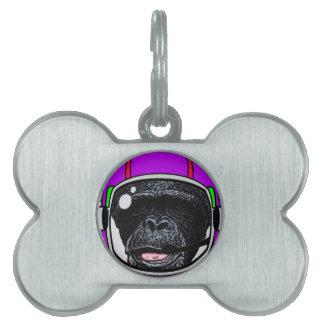 宇宙のチンパンジー ペットネームタグ