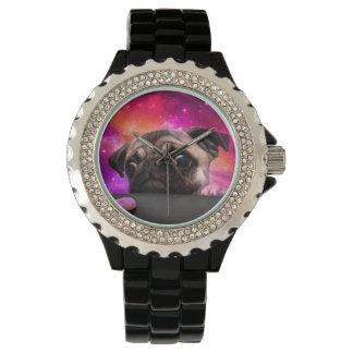 宇宙のパグ-パグの食糧-パグのクッキー 腕時計