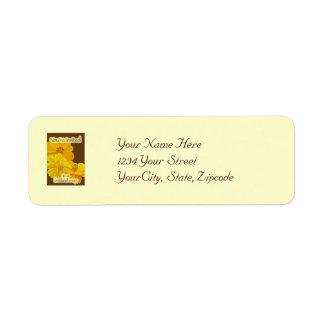 宇宙のブライダルシャワーの招待状の宛名ラベル ラベル