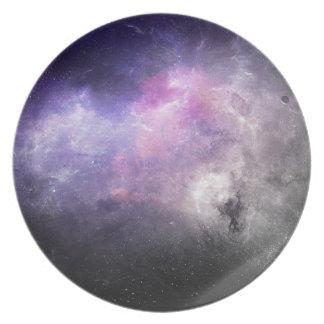 宇宙のプレート4 -紫色の星雲 プレート