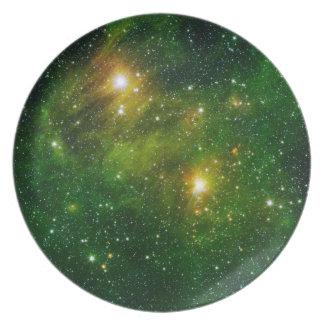 宇宙のプレート6 -緑の星雲 プレート