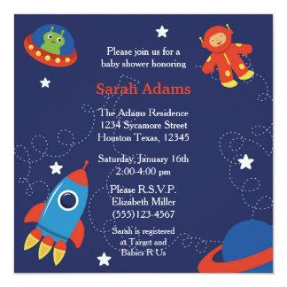 宇宙のベビーシャワーの招待状 カード