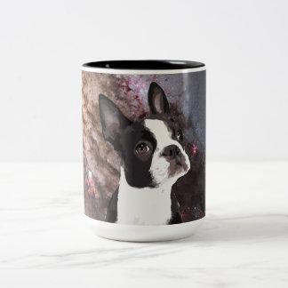 宇宙のボストンテリア ツートーンマグカップ