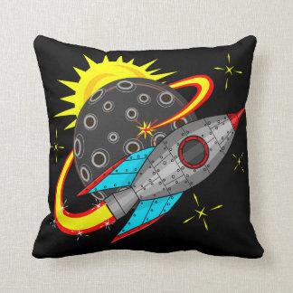 宇宙のレトロロケット クッション