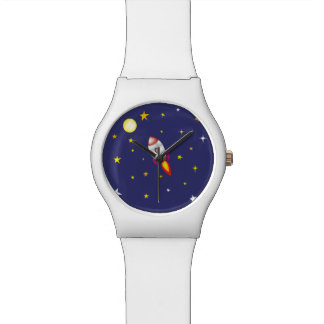宇宙のロケットのブタ 腕時計
