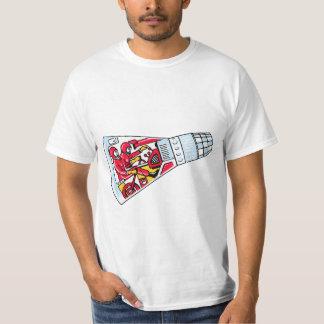 宇宙のロケットの人のレトロのジェミニロケット Tシャツ