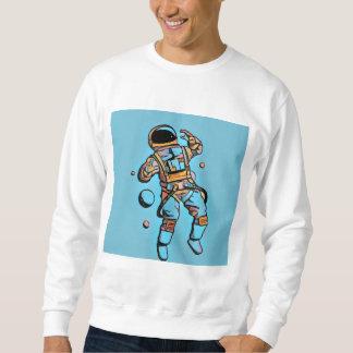 宇宙の人の青 スウェットシャツ
