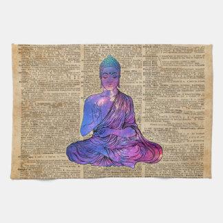 宇宙の仏のヴィンテージ辞書の芸術 キッチンタオル