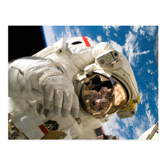 宇宙の写真のディスカバリーの宇宙飛行士 ポストカード
