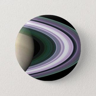 宇宙の写真の土星の環ボタン 5.7CM 丸型バッジ