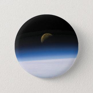 宇宙の写真の月の上昇ボタン 5.7CM 丸型バッジ