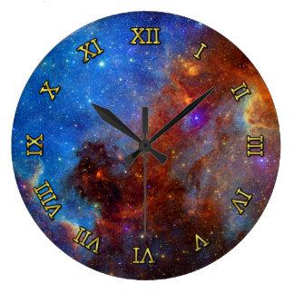 宇宙の北アメリカの星雲 ラージ壁時計