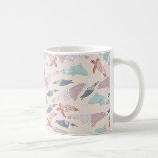 宇宙の北極海洋動物 コーヒーマグカップ