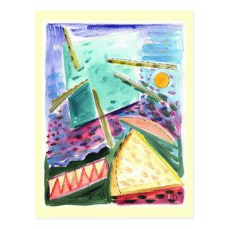 宇宙の原住民の水彩画の調査 ポストカード