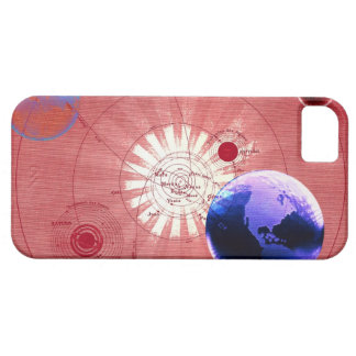 宇宙の地図が付いている地球 iPhone 5 カバー