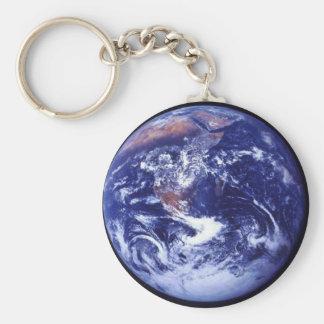 宇宙の地球のアポロ17眺め キーホルダー