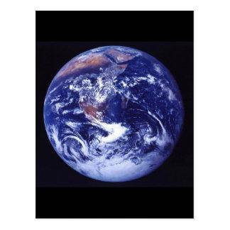 宇宙の地球のアポロ17眺め ポストカード