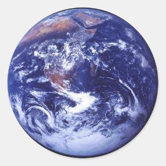 宇宙の地球のアポロ17眺め 丸形シール・ステッカー